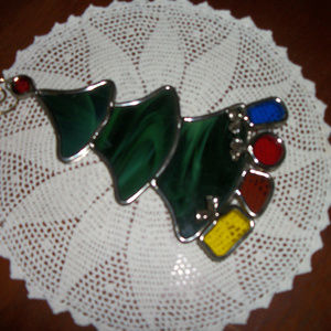 Other - Vintage Christmas Stained glass tree decor